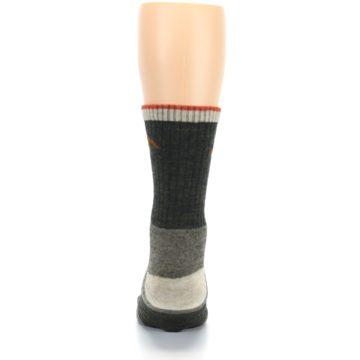 Image of Olive Men's Wool Hiking Socks (back-18)