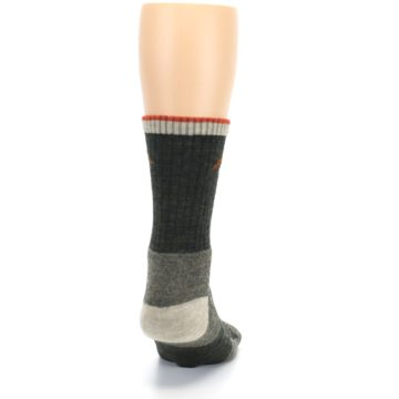 Image of Olive Men's Wool Hiking Socks (back-19)