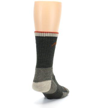 Image of Olive Men's Wool Hiking Socks (side-1-back-20)