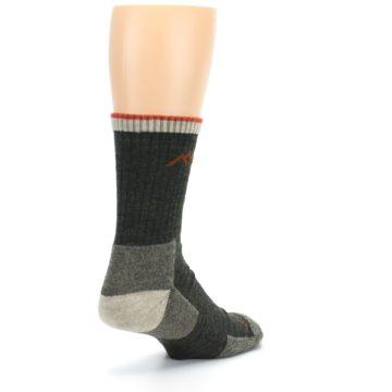 Image of Olive Men's Wool Hiking Socks (side-1-back-21)