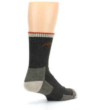 Image of Olive Men's Wool Hiking Socks (side-1-back-22)