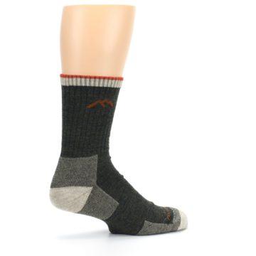 Image of Olive Men's Wool Hiking Socks (side-1-23)