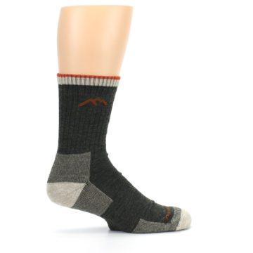 Image of Olive Men's Wool Hiking Socks (side-1-24)