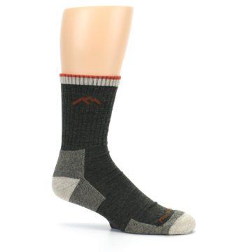 Image of Olive Men's Wool Hiking Socks (side-1-25)