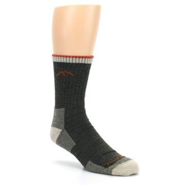 Image of Olive Men's Wool Hiking Socks (side-1-27)