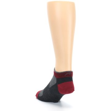 Image of Charcoal Red Men's Running Endurance Ankle Socks (side-2-back-16)