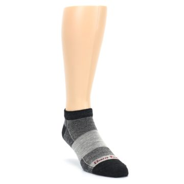 Image of Charcoal Grayscale Men's Running Endurance Ankle Socks (side-1-front-02)