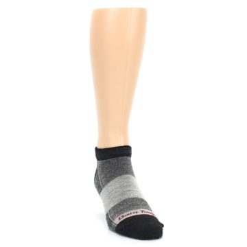 Image of Charcoal Grayscale Men's Running Endurance Ankle Socks (side-1-front-03)