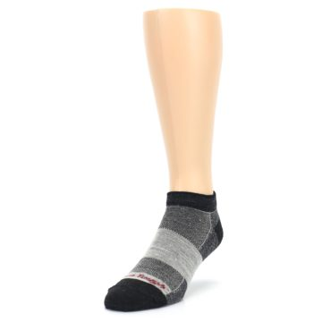 Image of Charcoal Grayscale Men's Running Endurance Ankle Socks (side-2-front-07)