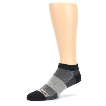 Image of Charcoal Grayscale Men's Running Endurance Ankle Socks (side-2-09)