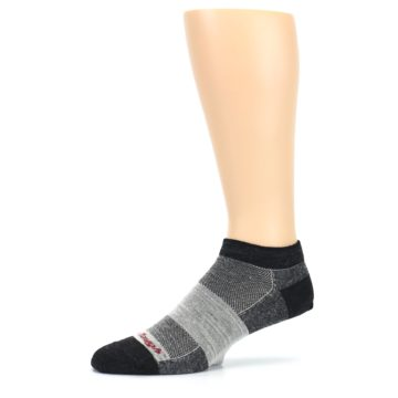 Image of Charcoal Grayscale Men's Running Endurance Ankle Socks (side-2-10)