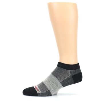 Image of Charcoal Grayscale Men's Running Endurance Ankle Socks (side-2-11)