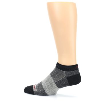 Image of Charcoal Grayscale Men's Running Endurance Ankle Socks (side-2-13)