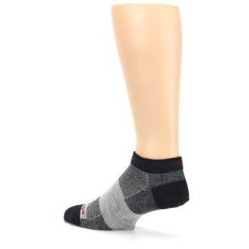 Image of Charcoal Grayscale Men's Running Endurance Ankle Socks (side-2-back-14)