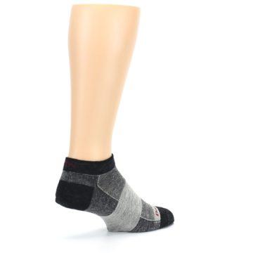 Image of Charcoal Grayscale Men's Running Endurance Ankle Socks (side-1-back-22)