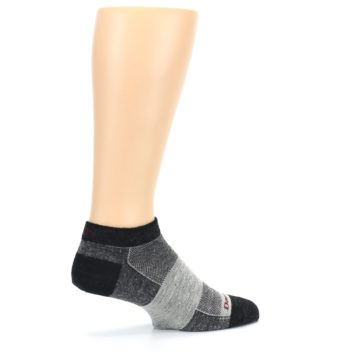 Image of Charcoal Grayscale Men's Running Endurance Ankle Socks (side-1-23)