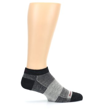 Image of Charcoal Grayscale Men's Running Endurance Ankle Socks (side-1-24)
