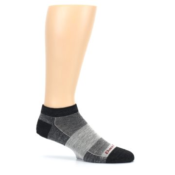Image of Charcoal Grayscale Men's Running Endurance Ankle Socks (side-1-25)