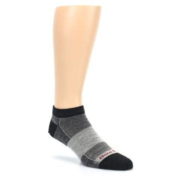 Image of Charcoal Grayscale Men's Running Endurance Ankle Socks (side-1-27)
