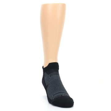 Image of Black Gray Men's Running Endurance Ankle Socks (side-1-front-03)