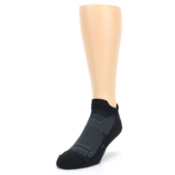 Image of Black Gray Men's Running Endurance Ankle Socks (side-2-front-07)