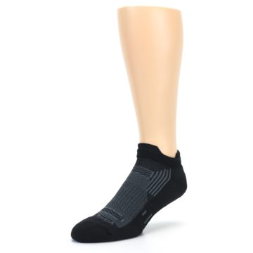 Image of Black Gray Men's Running Endurance Ankle Socks (side-2-front-08)