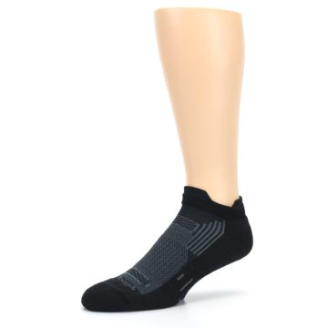 Image of Black Gray Men's Running Endurance Ankle Socks (side-2-09)