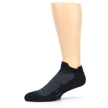 Image of Black Gray Men's Running Endurance Ankle Socks (side-2-10)