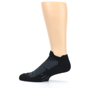 Image of Black Gray Men's Running Endurance Ankle Socks (side-2-12)