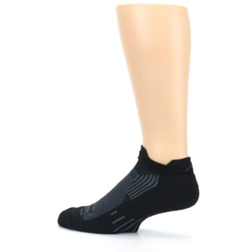 Image of Black Gray Men's Running Endurance Ankle Socks (side-2-13)