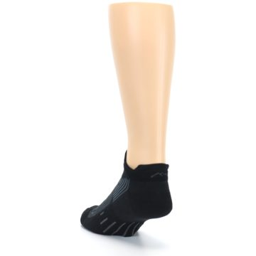 Image of Black Gray Men's Running Endurance Ankle Socks (side-2-back-16)