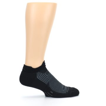 Image of Black Gray Men's Running Endurance Ankle Socks (side-1-24)