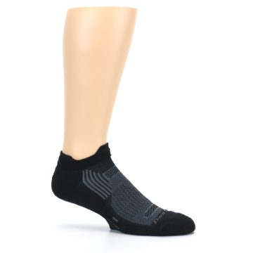 Image of Black Gray Men's Running Endurance Ankle Socks (side-1-25)
