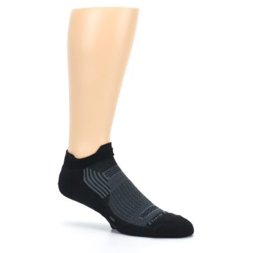 Image of Black Gray Men's Running Endurance Ankle Socks (side-1-26)