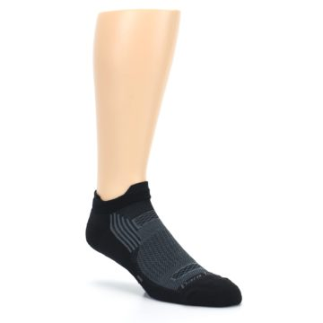 Image of Black Gray Men's Running Endurance Ankle Socks (side-1-27)