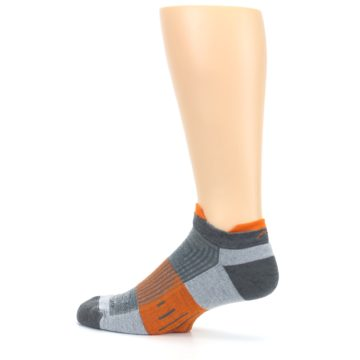 Image of Gray Orange Men's Running Endurance Ankle Socks (side-2-13)