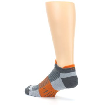Image of Gray Orange Men's Running Endurance Ankle Socks (side-2-back-14)