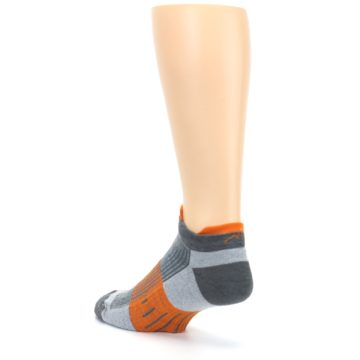 Image of Gray Orange Men's Running Endurance Ankle Socks (side-2-back-15)