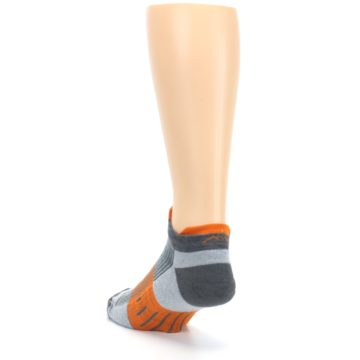 Image of Gray Orange Men's Running Endurance Ankle Socks (side-2-back-16)