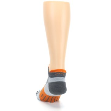 Image of Gray Orange Men's Running Endurance Ankle Socks (back-17)