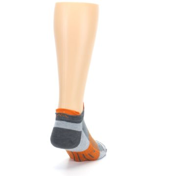 Image of Gray Orange Men's Running Endurance Ankle Socks (side-1-back-20)