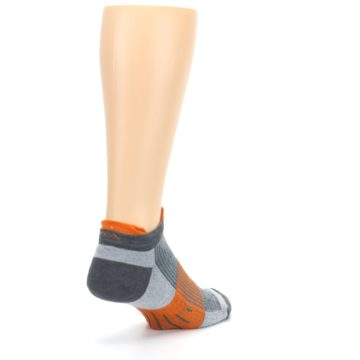 Image of Gray Orange Men's Running Endurance Ankle Socks (side-1-back-21)