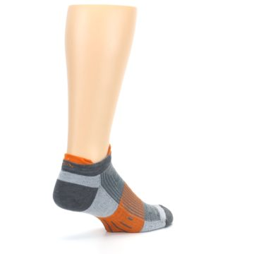 Image of Gray Orange Men's Running Endurance Ankle Socks (side-1-back-22)