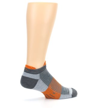 Image of Gray Orange Men's Running Endurance Ankle Socks (side-1-23)
