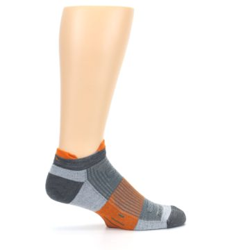 Image of Gray Orange Men's Running Endurance Ankle Socks (side-1-24)