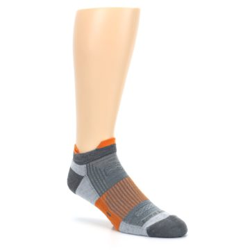 Image of Gray Orange Men's Running Endurance Ankle Socks (side-1-27)