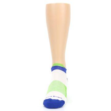 Image of White Lime Men's Endurance Ankle Socks (front-05)