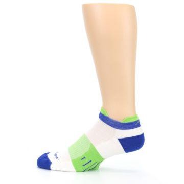Image of White Lime Men's Endurance Ankle Socks (side-2-12)