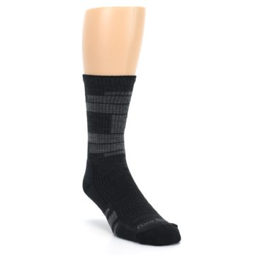 Image of Charcoal Gray Men's Running Endurance Crew Socks (side-1-front-02)