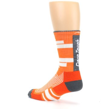 Image of Gray Orange Men's Running Endurance Crew Socks (side-2-back-14)